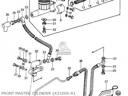 Kawasaki Kz1000a2 Kz1000 1978 Canada Front Master Cylinder kz1000-a1