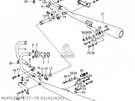Kawasaki Kz1000a2 Kz1000 1978 Canada Mufflers 77-78 A1 a2 a2a