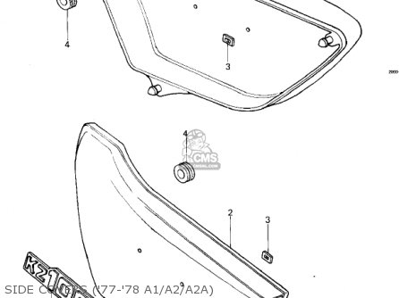 Kawasaki Kz1000a2 Kz1000 1978 Canada Side Covers 77-78 A1 a2 a2a