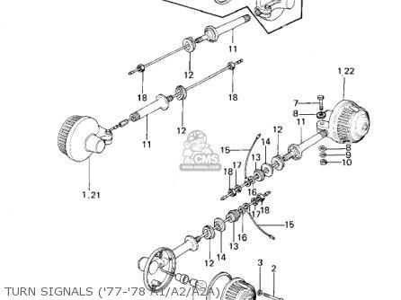 Kawasaki Kz1000a2 Kz1000 1978 Canada Turn Signals 77-78 A1 a2 a2a