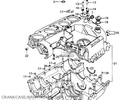 Kawasaki KZ1000B3 KZ1000 LTD 1979 USA CANADA parts lists and