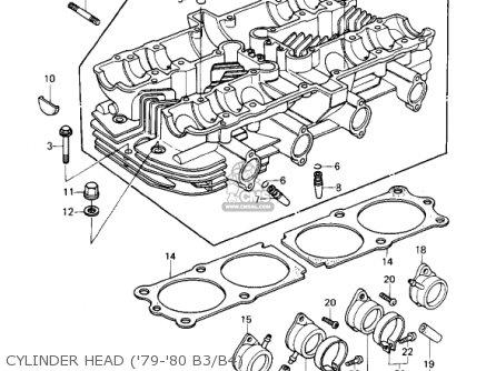cylinder head ('79-'80 b3/b4)