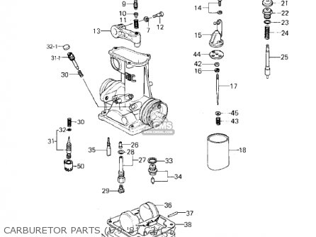 Kawasaki Kz1000c4 Police 1000 1981 Usa Canada Carburetor Parts 79-81 C2 c3