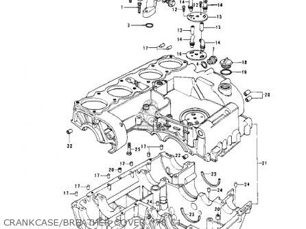 Kawasaki Kz1000c4 Police 1000 1981 Usa Canada Crankcase breather Cover 78 C1