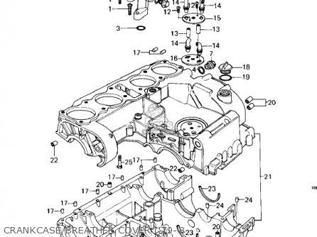 Kawasaki Kz1000c4 Police 1000 1981 Usa Canada Crankcase breather Cover 79-8