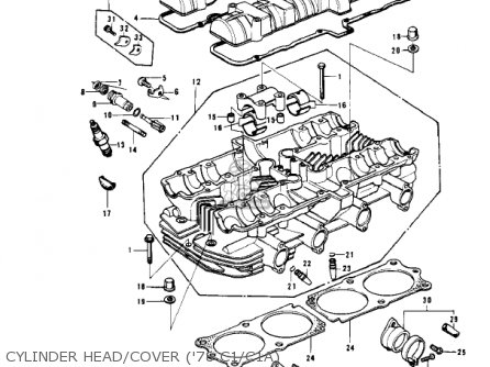 Kawasaki Kz1000c4 Police 1000 1981 Usa Canada Cylinder Head cover 78 C1 c1a