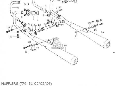 Kawasaki Kz1000c4 Police 1000 1981 Usa Canada Mufflers 79-81 C2 c3 c4