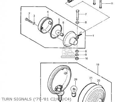 Kawasaki Kz1000c4 Police 1000 1981 Usa Canada Turn Signals 79-81 C2 c3 c4