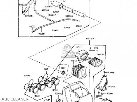 Kawasaki Kz1000r1 Eddie Lawson Replica 1982 Usa Canada Air Cleaner