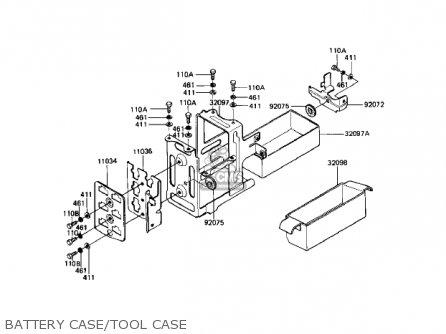 Kawasaki Kz1000r1 Eddie Lawson Replica 1982 Usa Canada Battery Case tool Case