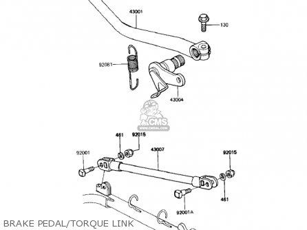 Kawasaki Kz1000r1 Eddie Lawson Replica 1982 Usa Canada Brake Pedal torque Link