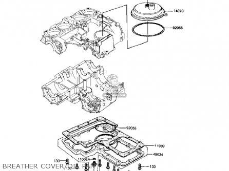 Kawasaki Kz1000r1 Eddie Lawson Replica 1982 Usa Canada Breather Cover oil Pan