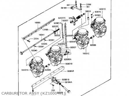 Kawasaki Kz1000r1 Eddie Lawson Replica 1982 Usa Canada Carburetor Assy kz1000-r1