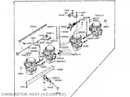 Kawasaki Kz1000r1 Eddie Lawson Replica 1982 Usa Canada Carburetor Assy kz1000-r2