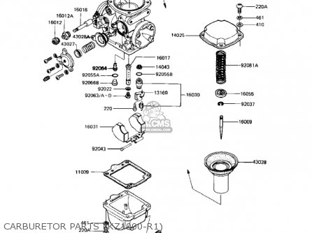 Kawasaki Kz1000r1 Eddie Lawson Replica 1982 Usa Canada Carburetor Parts kz1000-r1