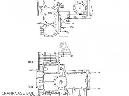 Kawasaki Kz1000r1 Eddie Lawson Replica 1982 Usa Canada Crankcase Bolt  Stud Pattern