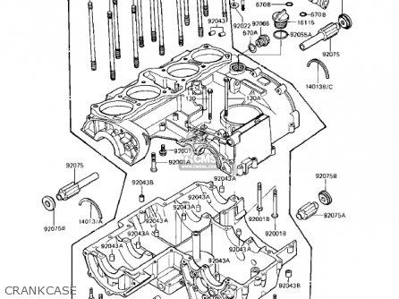 Kawasaki Kz1000r1 Eddie Lawson Replica 1982 Usa Canada Crankcase