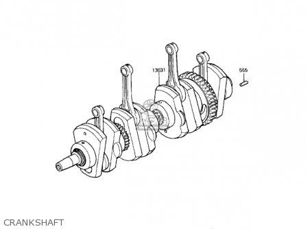 Kawasaki Kz1000r1 Eddie Lawson Replica 1982 Usa Canada Crankshaft