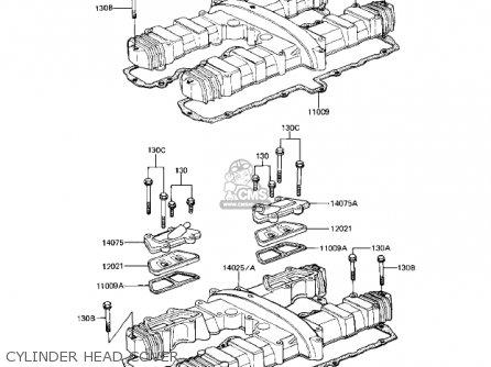 Kawasaki Kz1000r1 Eddie Lawson Replica 1982 Usa Canada Cylinder Head Cover