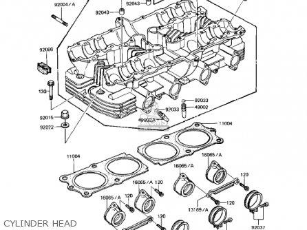 Kawasaki Kz1000r1 Eddie Lawson Replica 1982 Usa Canada Cylinder Head