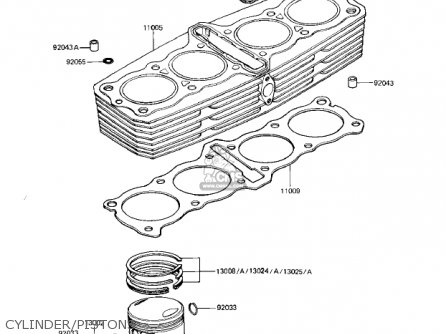 Kawasaki Kz1000r1 Eddie Lawson Replica 1982 Usa Canada Cylinder pistons