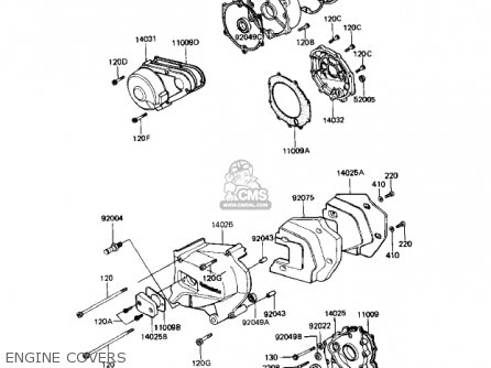Kawasaki Kz1000r1 Eddie Lawson Replica 1982 Usa Canada Engine Covers