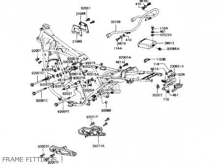 Kawasaki Kz1000r1 Eddie Lawson Replica 1982 Usa Canada Frame Fittings