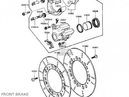 Kawasaki Kz1000r1 Eddie Lawson Replica 1982 Usa Canada Front Brake