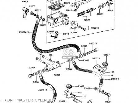 Kawasaki Kz1000r1 Eddie Lawson Replica 1982 Usa Canada Front Master Cylinder