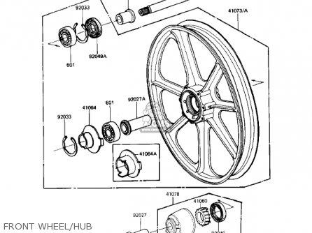 Kawasaki Kz1000r1 Eddie Lawson Replica 1982 Usa Canada Front Wheel hub