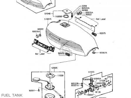 Kawasaki Kz1000r1 Eddie Lawson Replica 1982 Usa Canada Fuel Tank