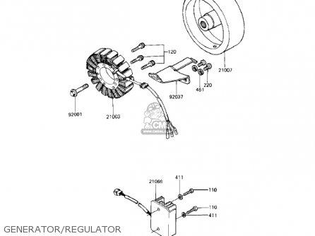 Kawasaki Kz1000r1 Eddie Lawson Replica 1982 Usa Canada Generator regulator
