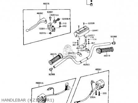 Kawasaki Kz1000r1 Eddie Lawson Replica 1982 Usa Canada Handlebar kz1000-r1