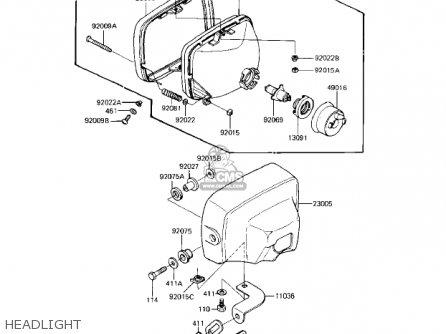 Kawasaki Kz1000r1 Eddie Lawson Replica 1982 Usa Canada Headlight