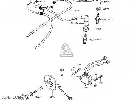 Kawasaki Kz1000r1 Eddie Lawson Replica 1982 Usa Canada Ignition