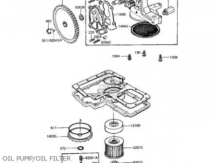 Kawasaki Kz1000r1 Eddie Lawson Replica 1982 Usa Canada Oil Pump oil Filter