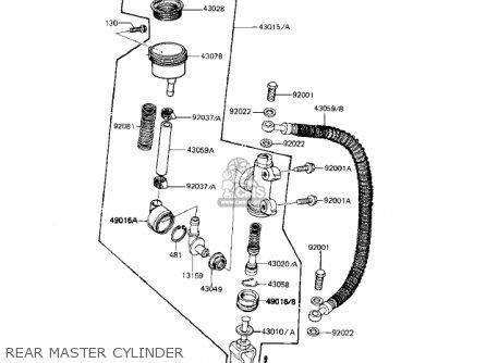 Kawasaki Kz1000r1 Eddie Lawson Replica 1982 Usa Canada Rear Master Cylinder