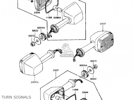 Kawasaki Kz1000r1 Eddie Lawson Replica 1982 Usa Canada Turn Signals