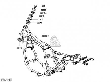 Kawasaki Kz1000r2 Eddie Lawson Replica 1983 Usa Canada Parts Lists