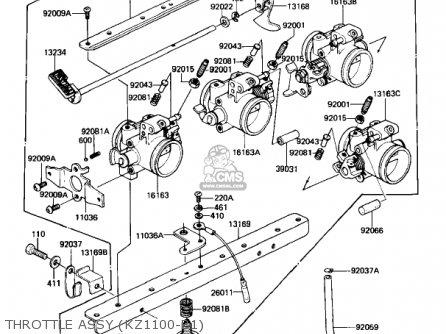 Kawasaki Kz1100b2 Gpz 1982 Usa Canada Parts Lists And Schematics