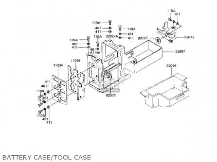Kawasaki Kz1100d1 Spectre 1982 Usa Canada Battery Case tool Case
