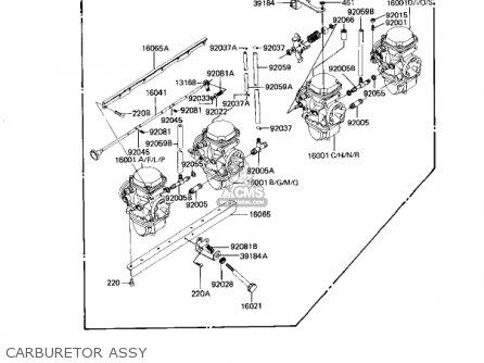 Kawasaki Kz1100d1 Spectre 1982 Usa Canada Carburetor Assy