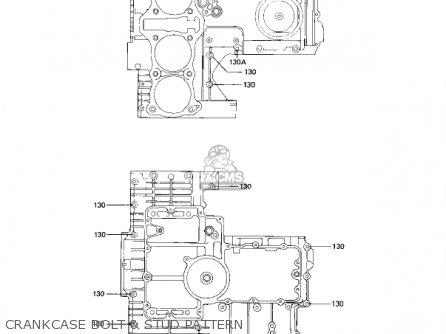 Kawasaki Kz1100d1 Spectre 1982 Usa Canada Crankcase Bolt  Stud Pattern