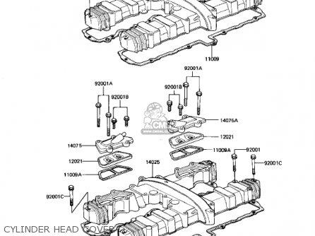 Kawasaki Kz1100d1 Spectre 1982 Usa Canada Cylinder Head Cover