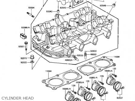 Kawasaki Kz1100d1 Spectre 1982 Usa Canada Cylinder Head