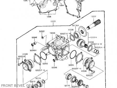 Kawasaki Kz1100d1 Spectre 1982 Usa Canada Front Bevel Gears