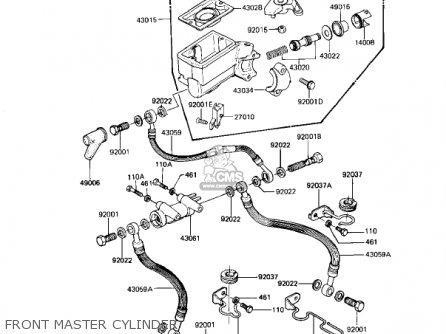 Kawasaki Kz1100d1 Spectre 1982 Usa Canada Front Master Cylinder