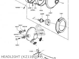 Kawasaki Kz1100d1 Spectre 1982 Usa Canada Headlight kz1100-d1