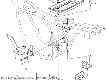 Kawasaki Kz1300-a3 1981 Canada Battery Case electro Bracket
