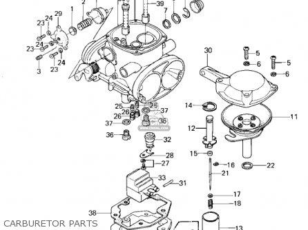Kawasaki Kz1300-a3 1981 Canada Carburetor Parts